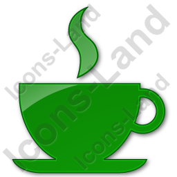 Cafe Plain Green Icon, PNG/ICO, 256x256