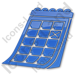 Calendar Plain Blue Icon, PNG/ICO, 256x256