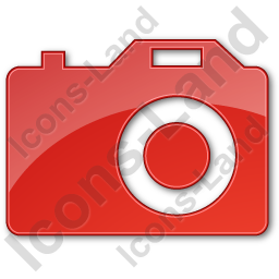 Camera Plain Red Icon