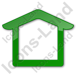 Camping Shelter Plain Green Icon, PNG/ICO, 256x256