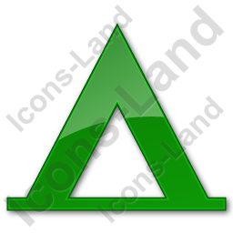Camping Tipi Plain Green Icon, PNG/ICO, 256x256