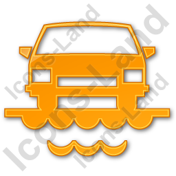 Car Ferry Plain Orange Icon, PNG/ICO, 256x256