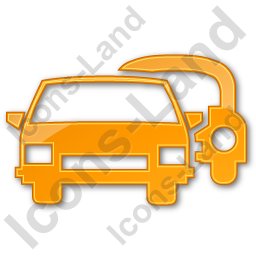 Car Rental Service Plain Orange Icon, PNG/ICO, 256x256