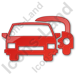 Car Rental Service Plain Red Icon, PNG/ICO, 256x256