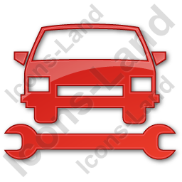 Car Repair Plain Red Icon, PNG/ICO, 256x256