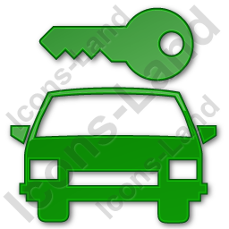 Car Safety Plain Green Icon, PNG/ICO, 256x256