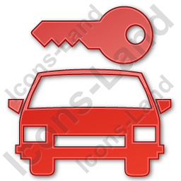 Car Safety Plain Red Icon, PNG/ICO, 256x256