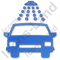 Car Wash Plain Blue Icon, PNG/ICO, 256x256