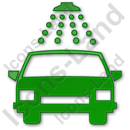 Car Wash Plain Green Icon, PNG/ICO, 256x256