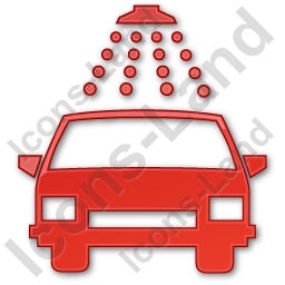 Car Wash Plain Red Icon, PNG/ICO, 256x256