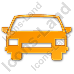 Car Plain Orange Icon, PNG/ICO, 256x256