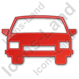 Car Plain Red Icon, PNG/ICO, 256x256