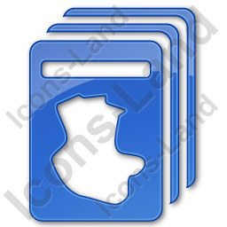 Cards Plain Blue Icon