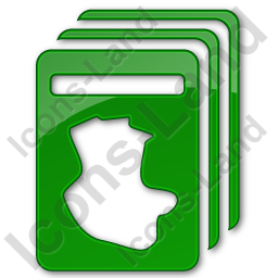 Cards Plain Green Icon, PNG/ICO, 256x256