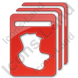 Cards Plain Red Icon, PNG/ICO, 256x256