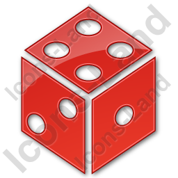 Casino Dice Plain Red Icon