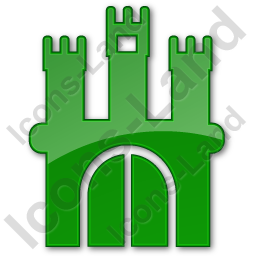 Castle Plain Green Icon Png Ico Icons 256x256 128x128 64x64 48x48 32x32 24x24 16x16