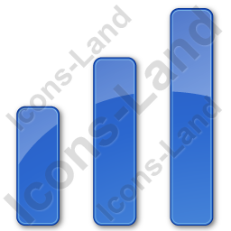 Chart Bars Plain Blue Icon, PNG/ICO, 256x256