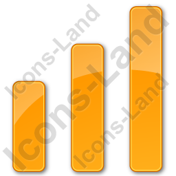 Chart Bars Plain Orange Icon