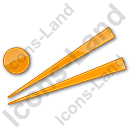 Chopsticks Plain Orange Icon