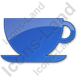 Cup Plain Blue Icon
