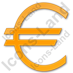 Currency Euro Plain Orange Icon