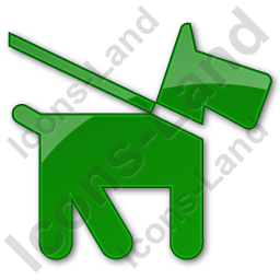 Dog Plain Green Icon