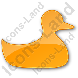 Duck Plain Orange Icon
