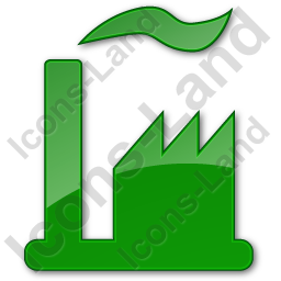 Factory Plain Green Icon