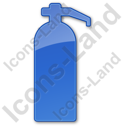 Fire Extinguisher Plain Blue Icon