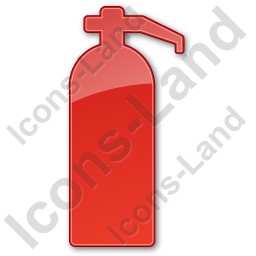 Fire Extinguisher Plain Red Icon, PNG/ICO, 256x256