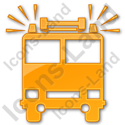 Fire Station Plain Orange Icon, PNG/ICO, 256x256