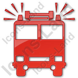 Fire Station Plain Red Icon