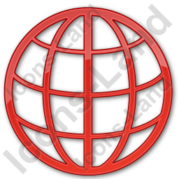Globe Plain Red Icon