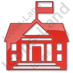 Government Facility Plain Red Icon