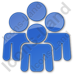 Group Plain Blue Icon