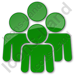 Group Plain Green Icon