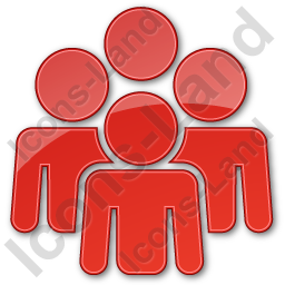 Group Plain Red Icon