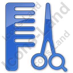 Hair Salon Plain Blue Icon