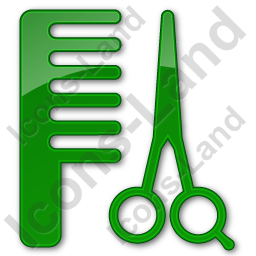 Hair Salon Plain Green Icon