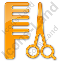 Hair Salon Plain Orange Icon