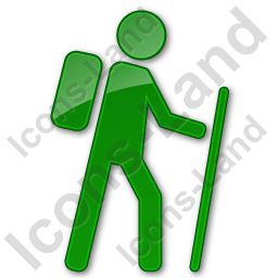 Hiking Plain Green Icon