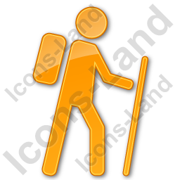 Hiking Plain Orange Icon