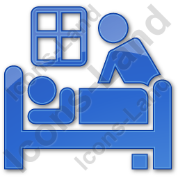 Hospice Plain Blue Icon, PNG/ICO, 256x256