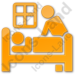 Hospice Plain Orange Icon