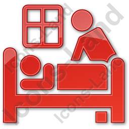 Hospice Plain Red Icon, PNG/ICO, 256x256