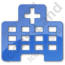 Hospital Facility Plain Blue Icon