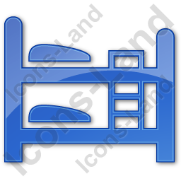 Hostel Plain Blue Icon