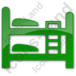 Hostel Plain Green Icon