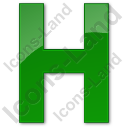 Hotel H Plain Green Icon